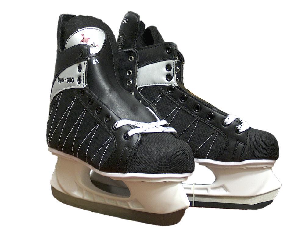 Коньки хоккейные черные Impal