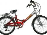 .САЛЮТ 24'' Складной велосипед, 6 скоростей